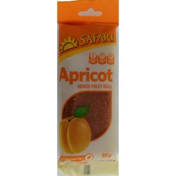 Safari Fruit Rolls - Apricot (80g pack)