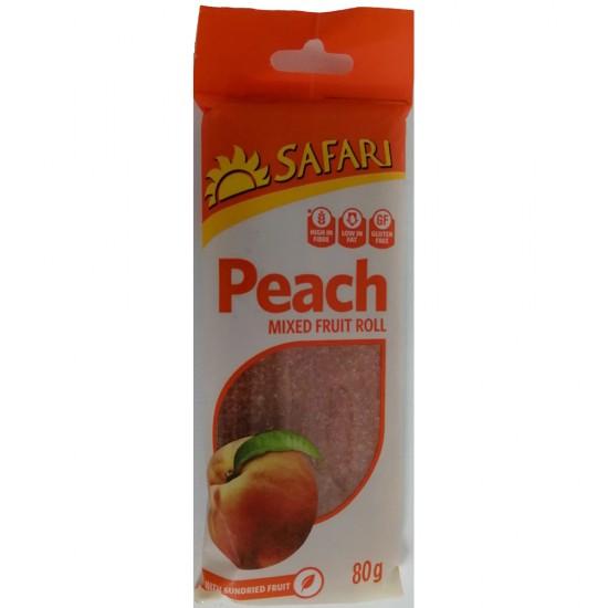 Safari Fruit Rolls - Peach (80g Pack)