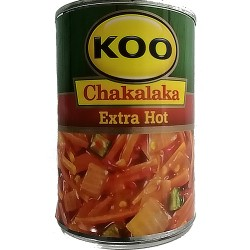 Chakalaka  Extra Hot 410g Can Koo