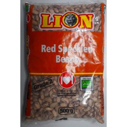 RED SPECKLED BEANS - 500g LION RED