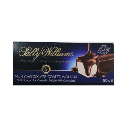 Sally Williams Milk Chocolate Coated Nougat 50g