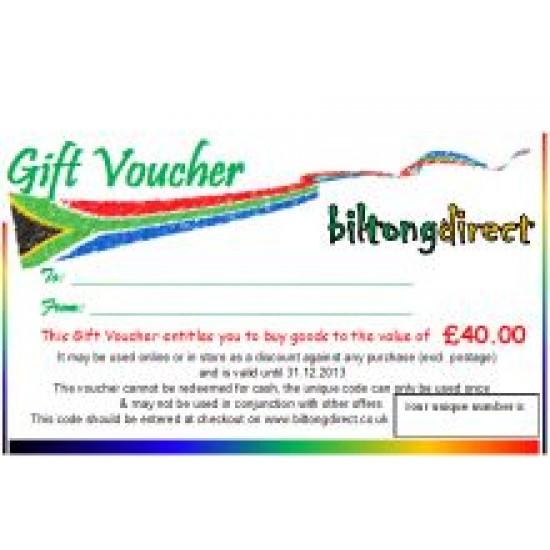 Gift Voucher £40.00