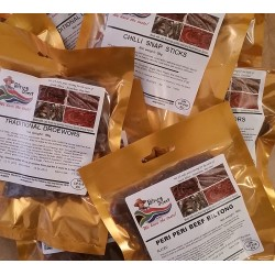 Biltong Meat Munchies Box of 6 Assorted  packets Traditional or Chilli